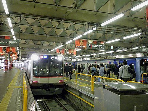 東急東横線渋谷駅・5050系(2012年10月12日)