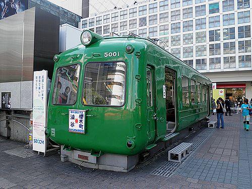 東急(旧)5000系・デハ5001(渋谷駅ハチ公口・2012年10月12日)