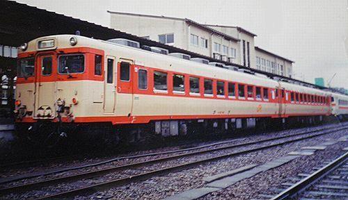 キハ58 796(海ナコ)急行「のりくら」(1989年11月・高山駅)
