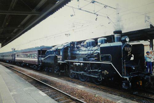C56 160「SLやまぐち号」(2001年7月29日・小郡駅)