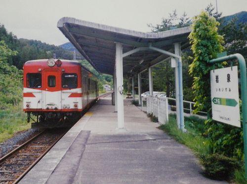 岩泉線岩泉駅・キハ52 146(盛モカ)(2002年6月)