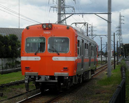 岳南鉄道モハ7001(吉原~ジヤトコ前間・2011年8月31日)