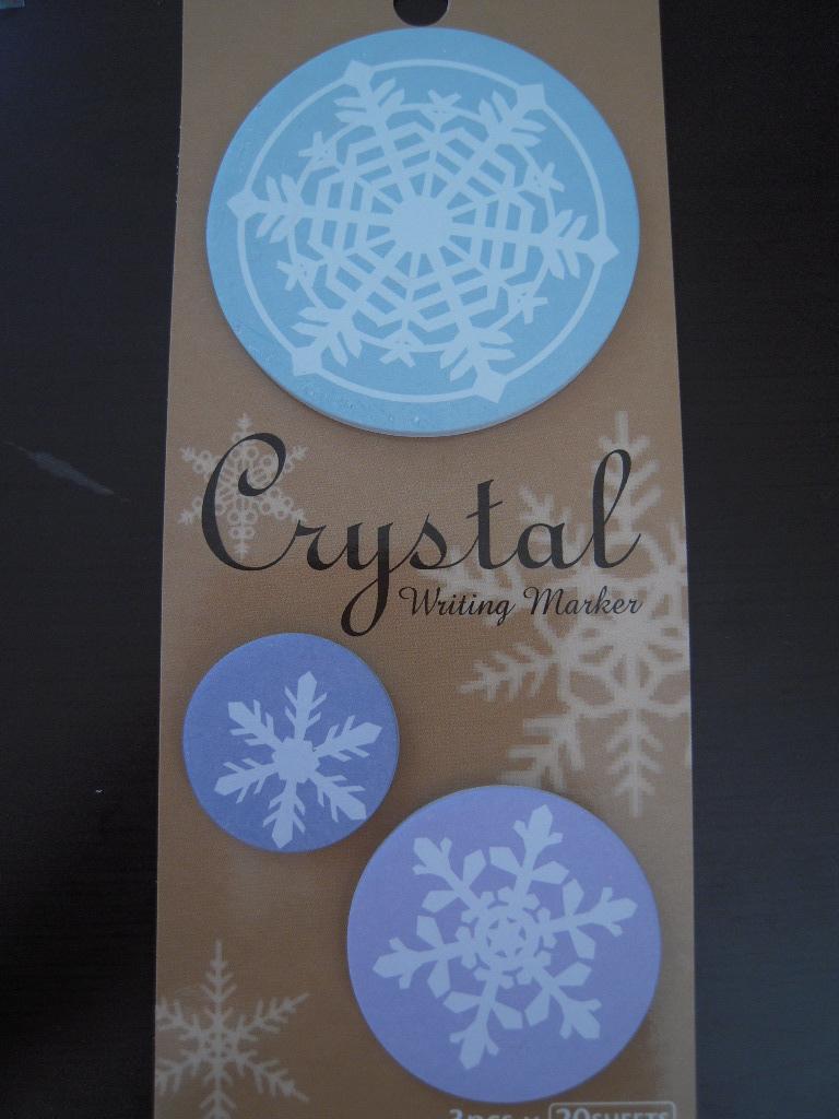 キャンドゥ☆ 雪の結晶の付箋☆