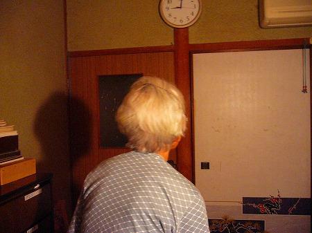 義母髪をカット