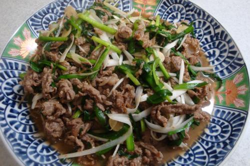 100403-010牛肉とにらの炒め(縮小)