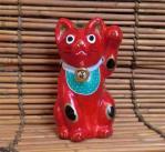 「鴻巣(こうのす)人形/赤招き猫」