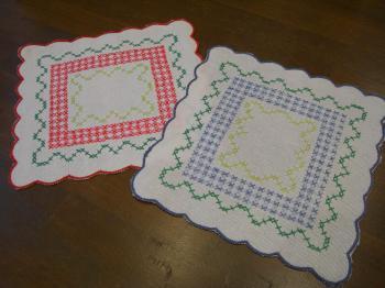 刺繍コースター 2色