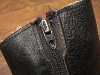 ブーツ 黒 ジップ