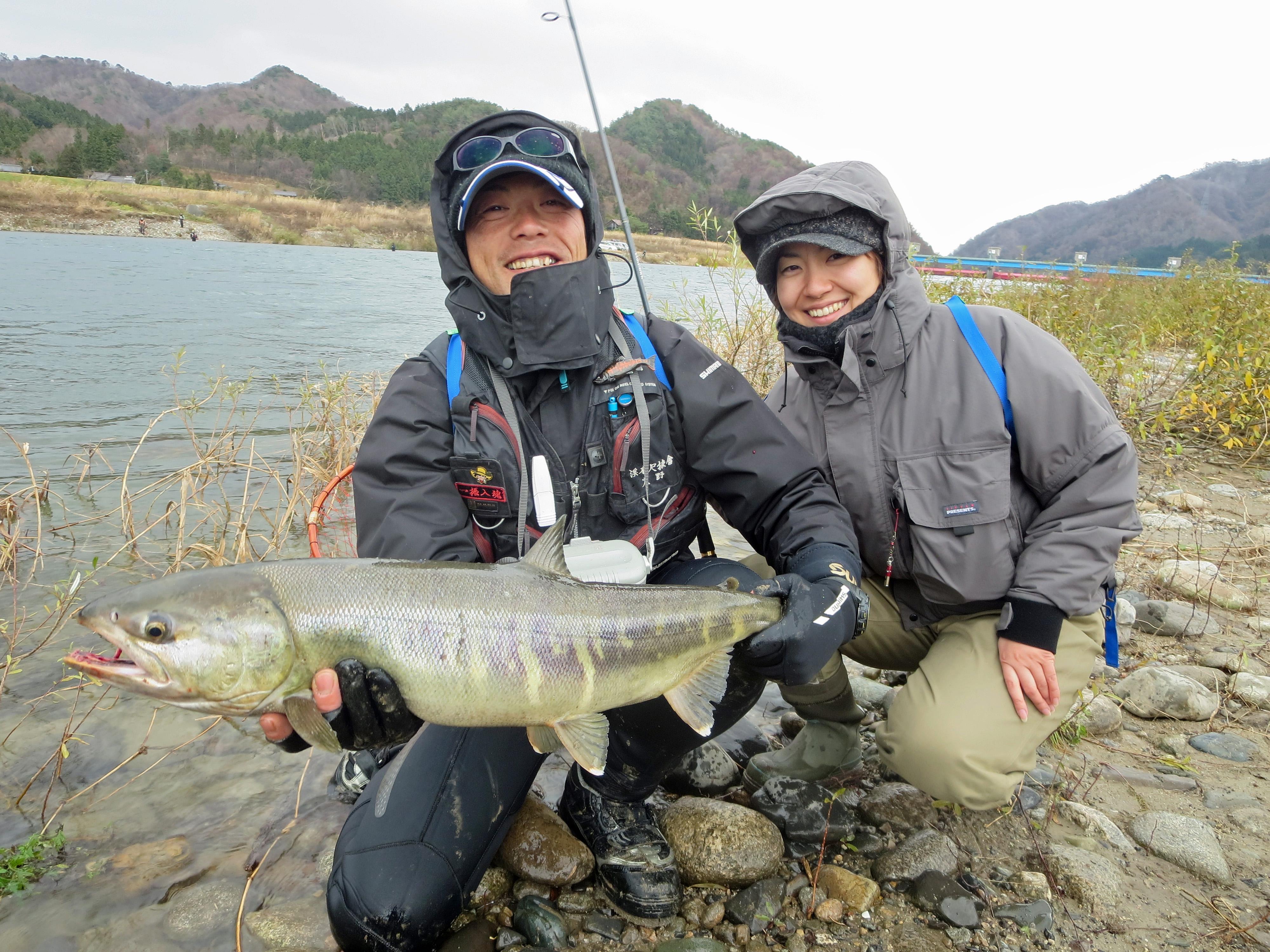 荒川鮭釣り 12月8日(日)