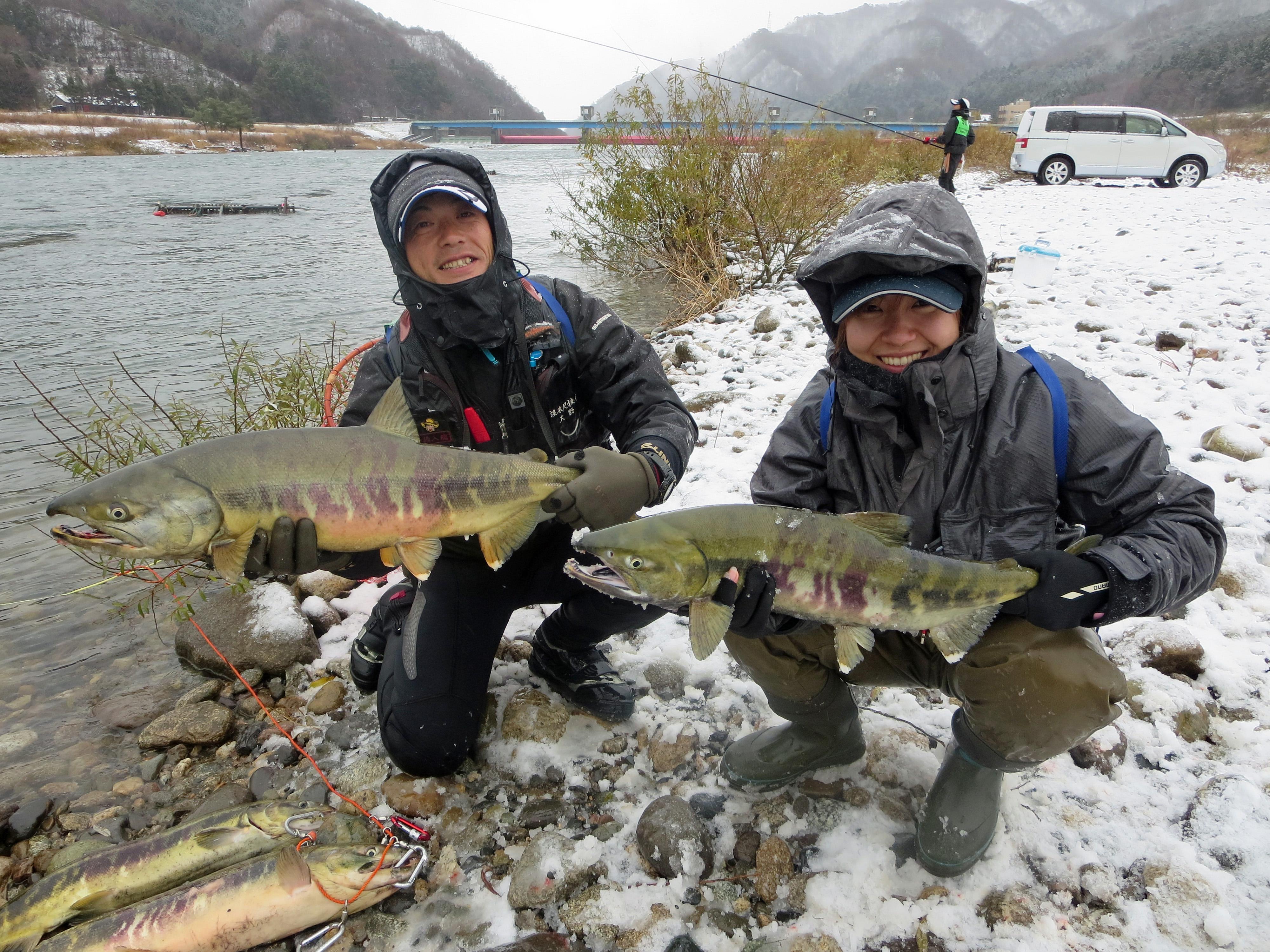荒川鮭釣り 12月14日