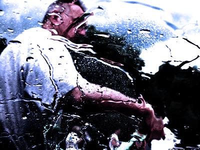 洗車 水 男