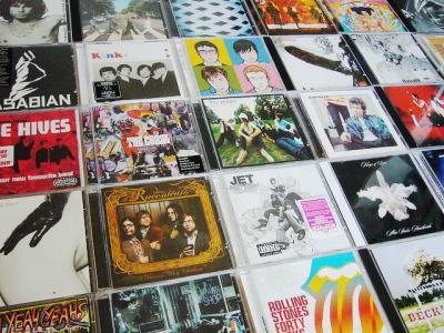CD ジャケット コレクション 並べる 敷き詰める