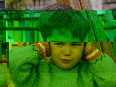 ノイズ デジタル崩壊 人 子供 ポートレート