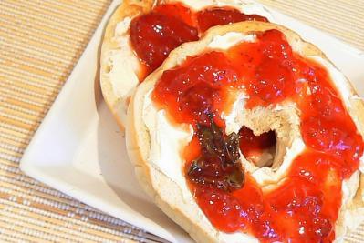 食べ物 イチゴジャム パン