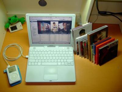ituens ノート iPod CD デスク ディスク