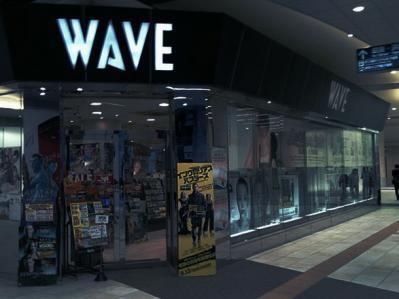 wave CDショップ 店 街頭 暗め