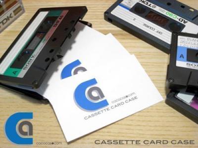 名刺ケース リサイクル カセットテープ