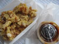 大分名物の鶏天と岡本屋のコーヒープリン