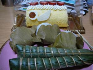 柏餅とちまき&鯉のぼりケーキ☆ミ