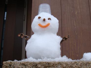 可愛い雪だるまさん