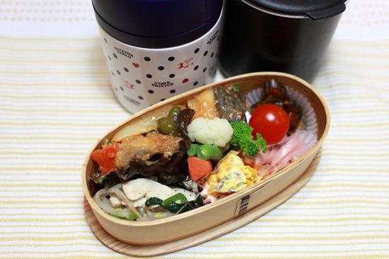 白身魚の味噌炒め弁当