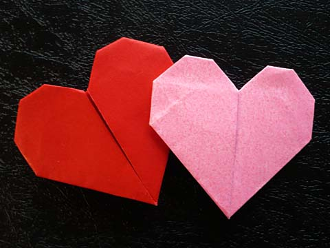 折り紙の 折り紙のハートの折り方 : momotarota.blog47.fc2.com