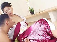 【無修正】着物美人の本気ファック 坂巻リオナ