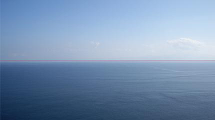 水平線 直線比較