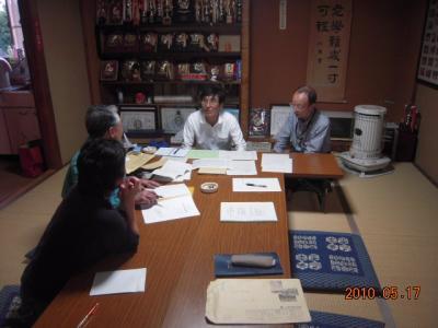 平成22年5月17日  8区役員会。 001