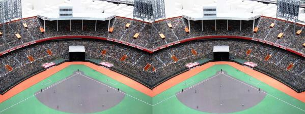 阪急西宮ギャラリー 西宮球場模型⑧(平行法)