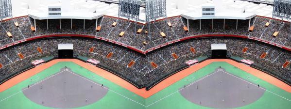 阪急西宮ギャラリー 西宮球場模型⑧(交差法)