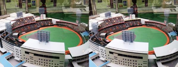 阪急西宮ギャラリー 西宮球場模型⑤(平行法)
