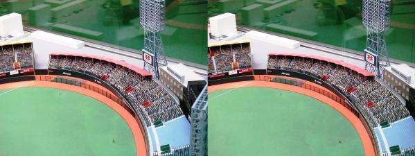 阪急西宮ギャラリー 西宮球場模型⑥(交差法)