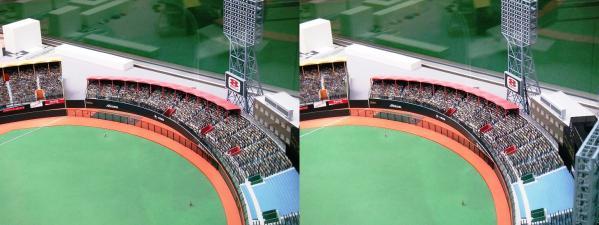 阪急西宮ギャラリー 西宮球場模型⑥(平行法)
