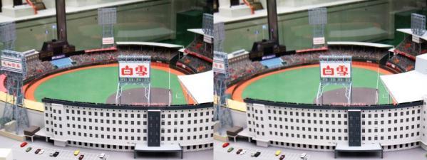 阪急西宮ギャラリー 西宮球場模型④(平行法)
