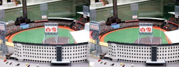 阪急西宮ギャラリー 西宮球場模型④(交差法)