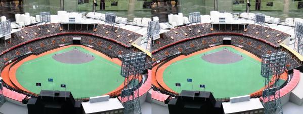 阪急西宮ギャラリー 西宮球場模型②(平行法)