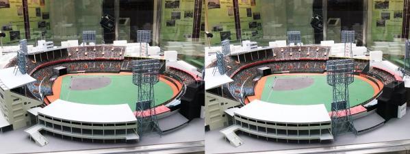 阪急西宮ギャラリー 西宮球場模型①(平行法)