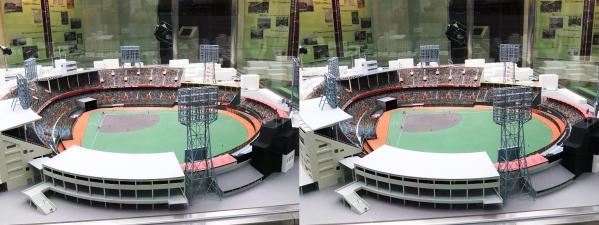 阪急西宮ギャラリー 西宮球場模型①(交差法)