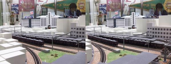 阪急西宮ギャラリー 阪急電車模型(平行法)