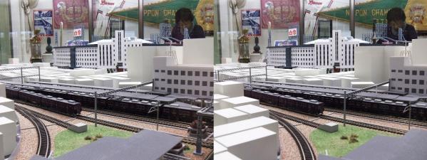 阪急西宮ギャラリー 阪急電車模型(交差法)