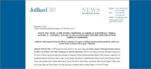 2010 julliard news