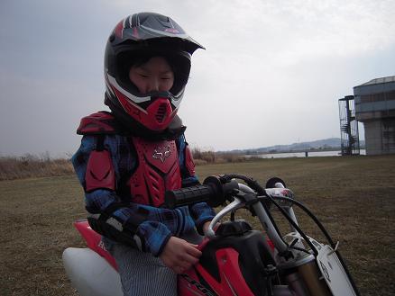 バイクとチビ太郎