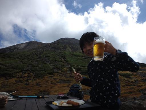肩の小屋ビール