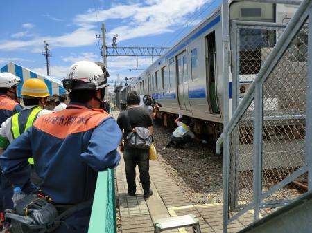 鉄道事故訓練見学・4