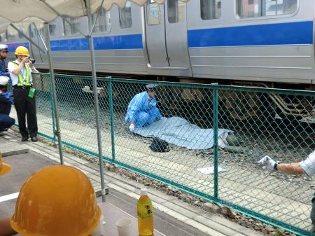 鉄道事故訓練見学・2
