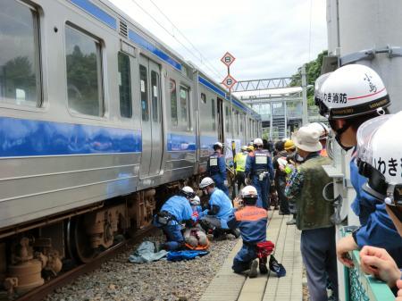 鉄道事故訓練見学・7