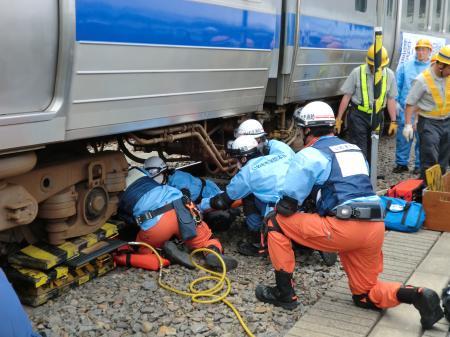 鉄道事故訓練見学・8