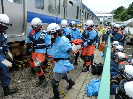 鉄道事故訓練見学・9