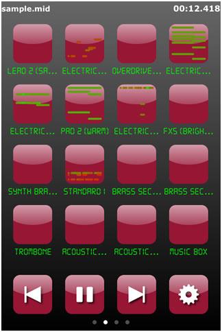 CrimsonTec.アプリm16 再生画面
